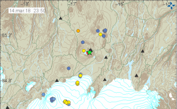 M3.8 earthquake and aftershocks swarm Askja volcano in Iceland on March 14 2018, M4.8 earthquake iceland march 15 2018