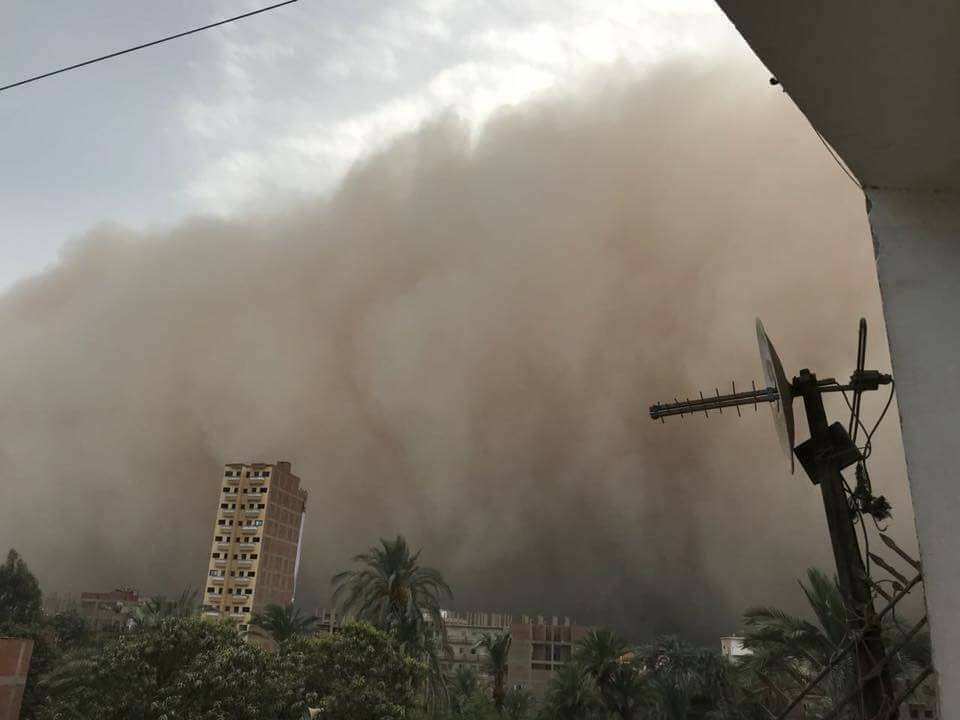 egypt sandstorm, egypt sandstorm pictures, egypt sandstorm video, orange sky egypt sandstorm