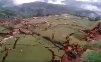 giant cracks cuzco peru, cuzco peru landslide, giant crack cuzco peru march 2018 pictures video