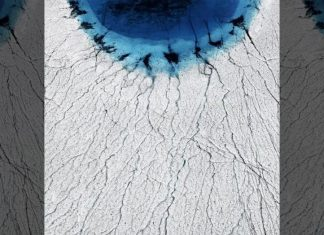 greenland cracks lake disappearance, greenland is cracking apart, Greenland lakes are draining away in hours, thanks to a vast network of fissures hidden on the ice sheet below.