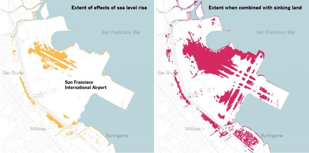 san francisco bay area inundation, san francisco bay area under water, san francisco bay area water problem