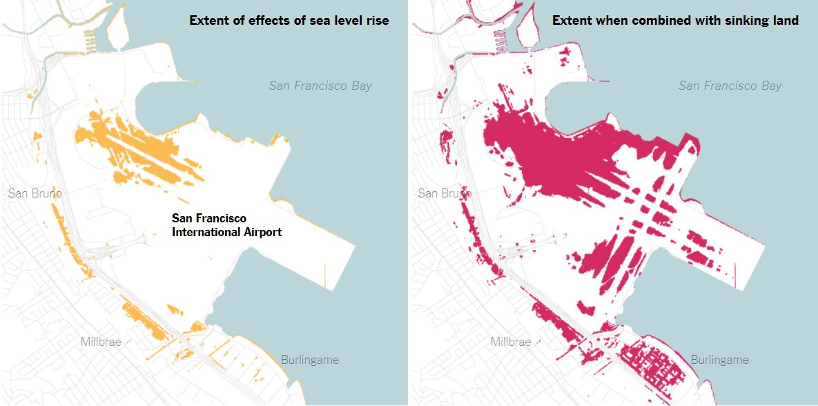More of the San Francisco Bay Area will sink underwater in 2100