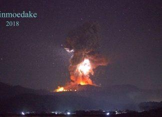 night eruption video, best night eruption video, eruption at Shinmoedake volcano, eruption at Shinmoedake volcano video, powerful eruption at Shinmoedake volcano video