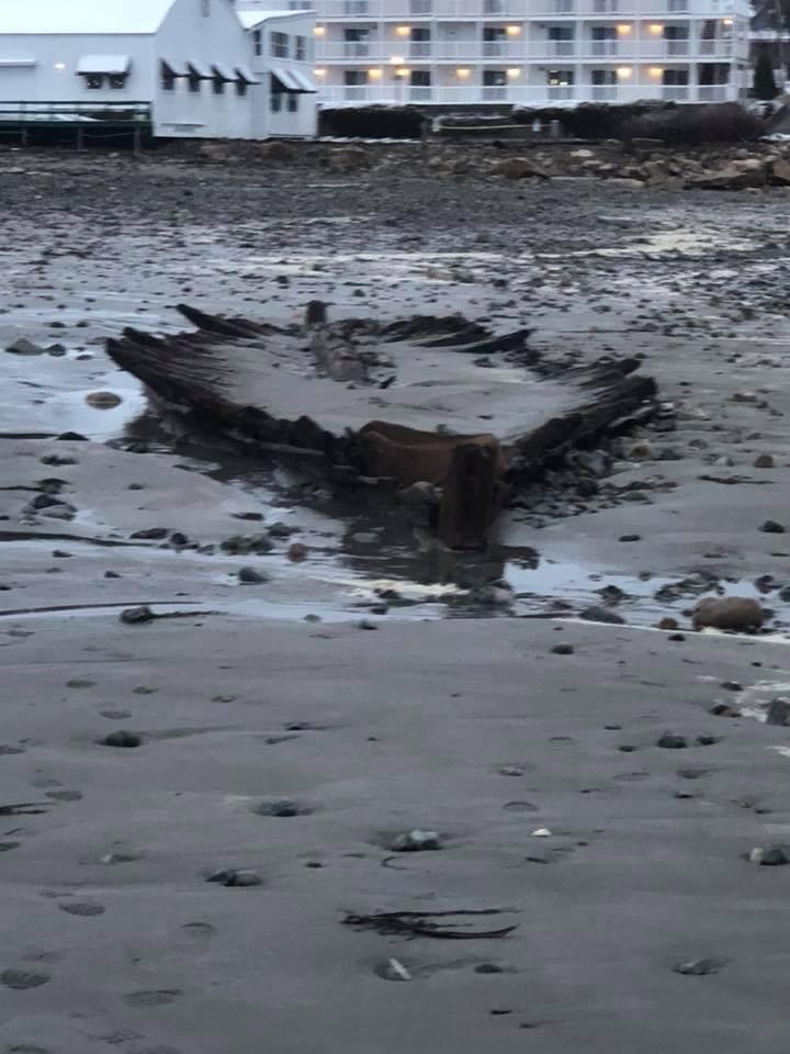 shipwreck storm riley maine, shipwreck noreaster maine march 2018, shipwreck bombogenesis riley march 2018 photo video