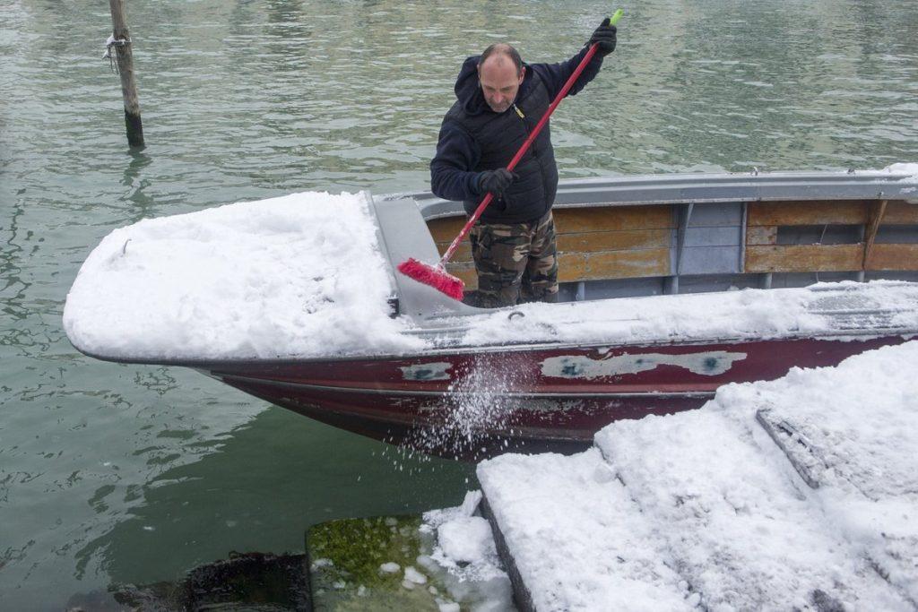 venice snow, venice snow pictures, snow venice pictures, venice snow picture march 1 2018