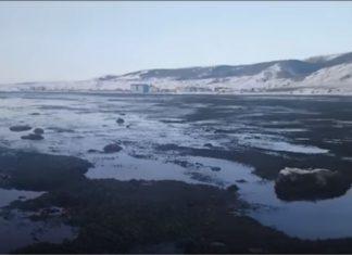 water receding russia, water receding russia video, water receding russia pictures, water receding russia march 2018