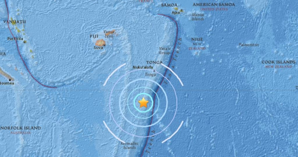 M6.1 earthquake fiji islands april 2 2018, latest earthquake april 2 2018, strong earthquake april 2 2018