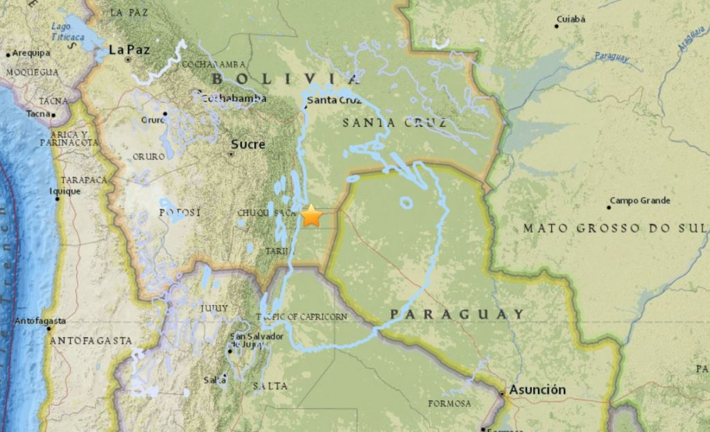 M6.8 earthquake bolivia april 2 2018, M6.8 earthquake bolivia april 2 2018 map, M6.8 earthquake bolivia april 2 2018 photo