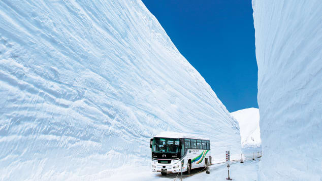 Snow Wall Walk japan, tateyama kurobe alpine route, Snow Wall Walk japan tateyama kurobe alpine route, Snow Wall Walk japan, tateyama kurobe alpine route pictures and video