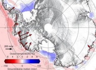 antarctica grounding lines are shrinking, ocean water ice melting antarctica, antarctica ice melts due to ocean water, ocean water melts antarctica ice