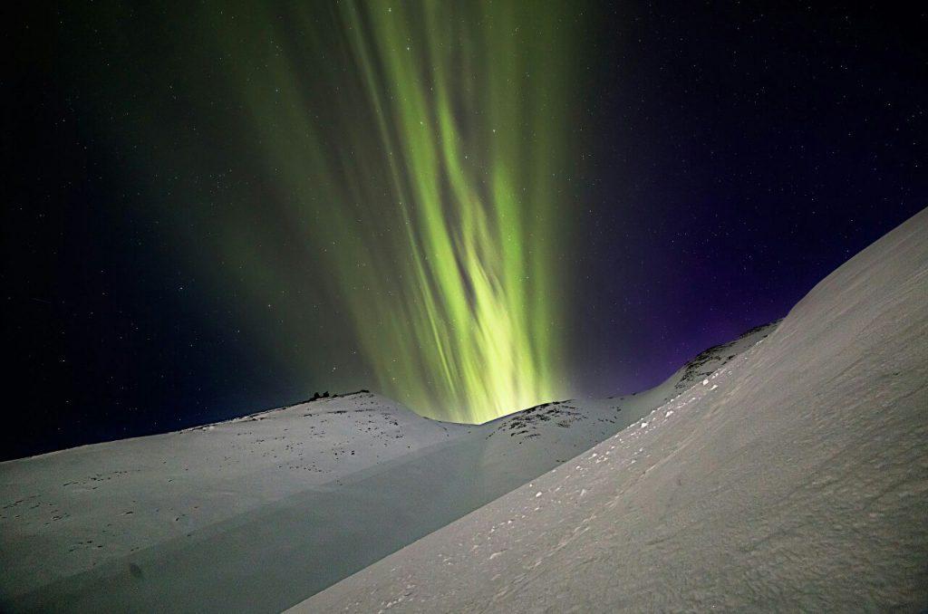 aurora eruption, aurora volcani eruption, northern light shoot to the sky like a volcanic eruption, aurora volcani eruption russia april 2018