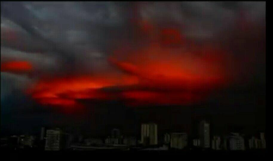 blood red sky brazil, blood red sky brazil pictures, blood red sky brazil video