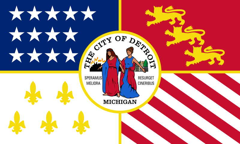 Flag of Detroit, detroit flag, coldest april in 140 years for detroit