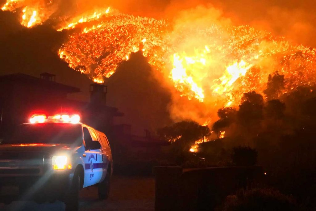 Wildfires in the US Northwest in 2017 were the biggest ever recorded and had the same effect as a volcanic eruption