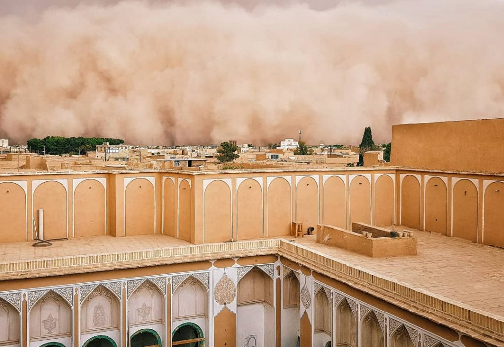 iran sandstorm, iran sandstorm april 2018, Yazd sandstorm in Iran