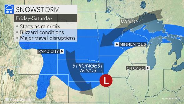 A major blizzard is on the way for the Northern Plains with FEET of