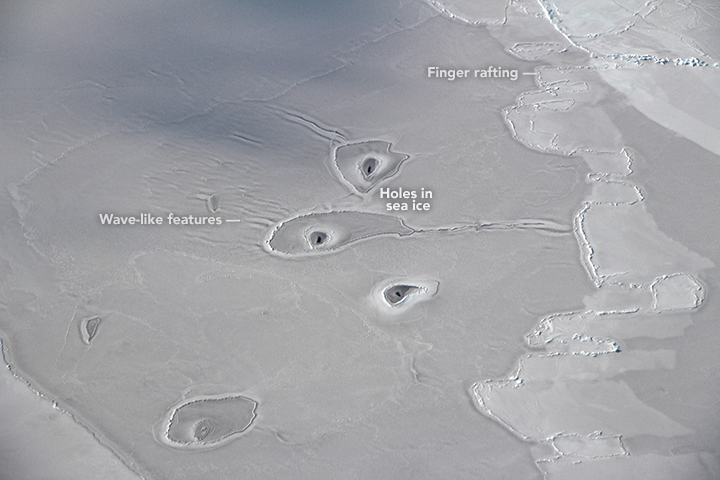 mysterious circles in Arctic sea ice, mysterious circles in Arctic sea ice picture, Unexplained circles in Arctic sea ice baffle NASA scientists