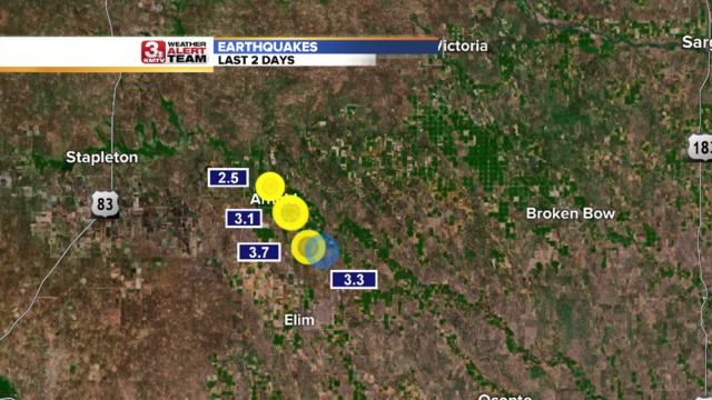 Very unusual: 4 earthquakes hit Nebraska within two days, nebraska 4 earthquakes in 2 days