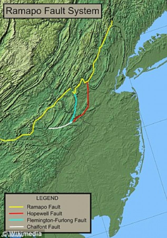 new york earthquake fault lines map, fault lines in New york, New york overdue for big earthquake