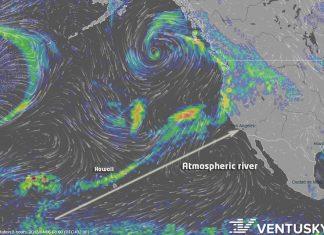 pineapple express, pineapple express storm, pineapple express atmospheric river, atmospheric river california april 2018