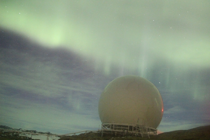 Interplanetary shock wave hits Earth's magnetic field creating red, yellow, green southern lights and blue northern lights Southern-lights-interplanetary-shock-wave-6