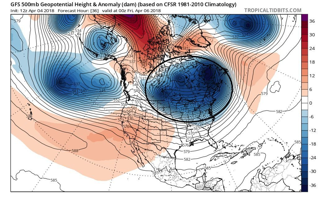 winter weather april 2018, It appears that winter is indeed refusing to go away and might decide to get worse again, with the potential for more snow and record-breaking low temperatures in the US, winter weather april 2018 map, winter weather april 2018 video