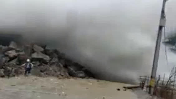 colombia dam break, colombia dam break video, video colombia dam break