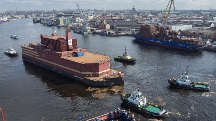 floating nuclear power plant Akademik Lomonosov, floating nuclear power plant russia, floating nuclear power plant Akademik Lomonosov siberia, floating nuclear power plant Akademik Lomonosov may 2018