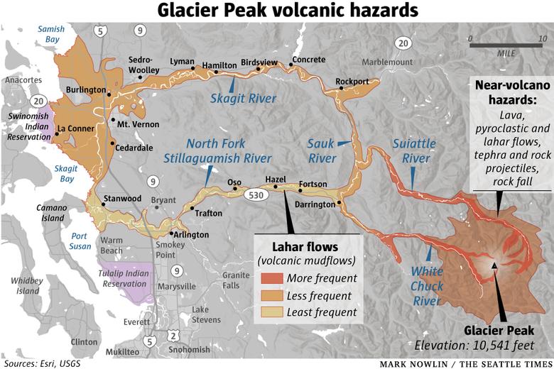 Glacier Peak volcanic hazards, glacier peak, glacier peak volcano, glacier peak volcanic danger