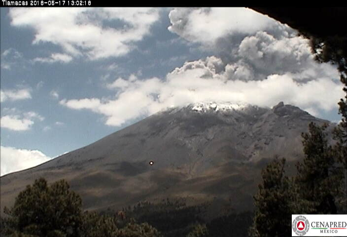 Popocatepetl eruption on May 17 2018, Popocatepetl eruption on May 17 2018pictures, Popocatepetl eruption on May 17 2018 video