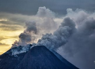 Sinabung volcano eruption on May 17 2018