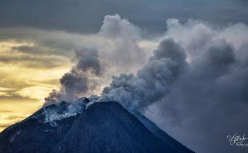 Sinabung volcano eruption on May 17 2018
