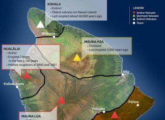 status big island volcano, status big island volcanoes, status big island 5 volcanoes