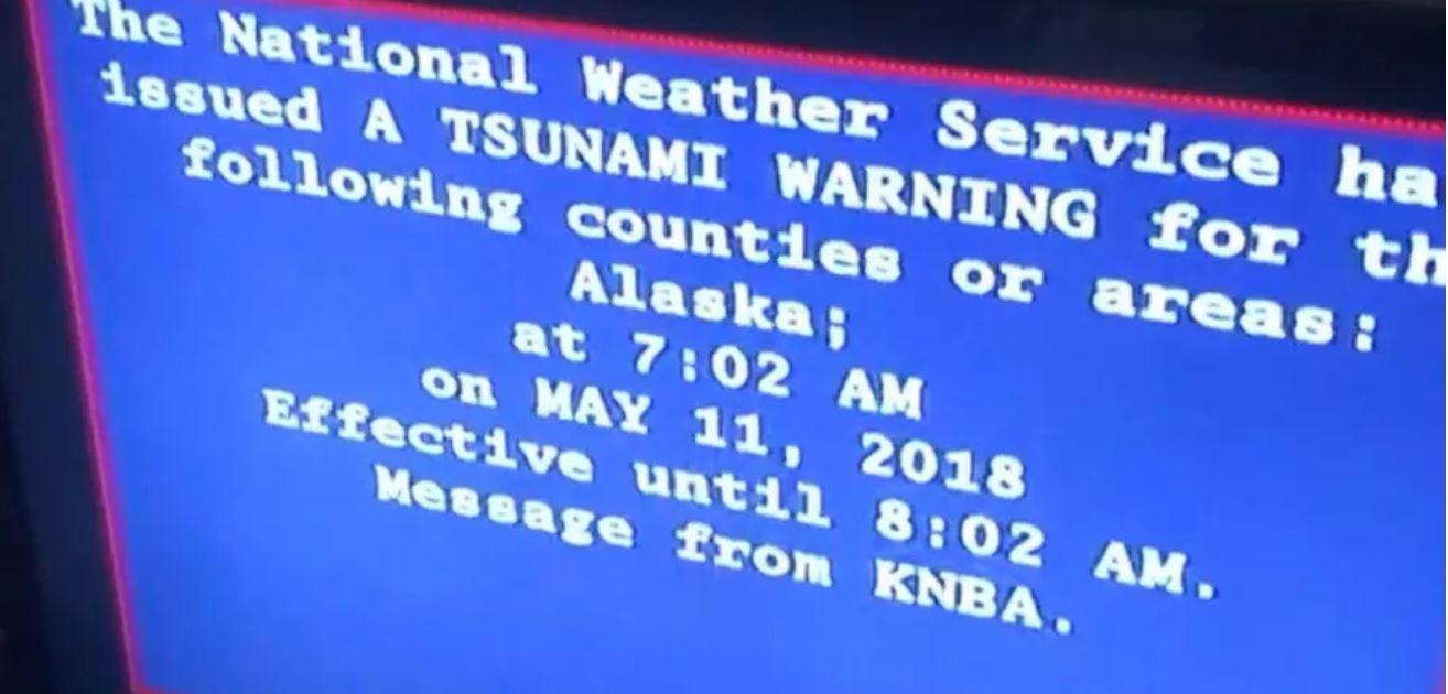 false alarm alaska tsunami warning issued friday was