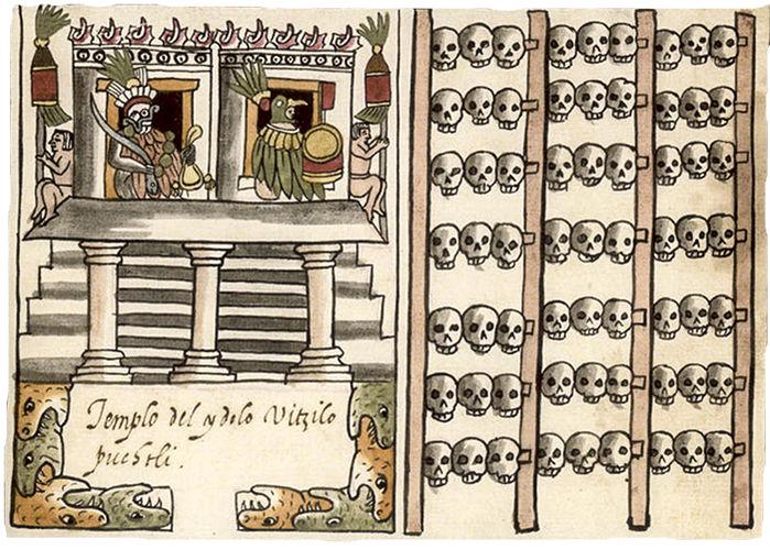 Feeding the gods Hundreds of skulls reveal massive scale of human sacrifice in Aztec capital, aztec sacrifices