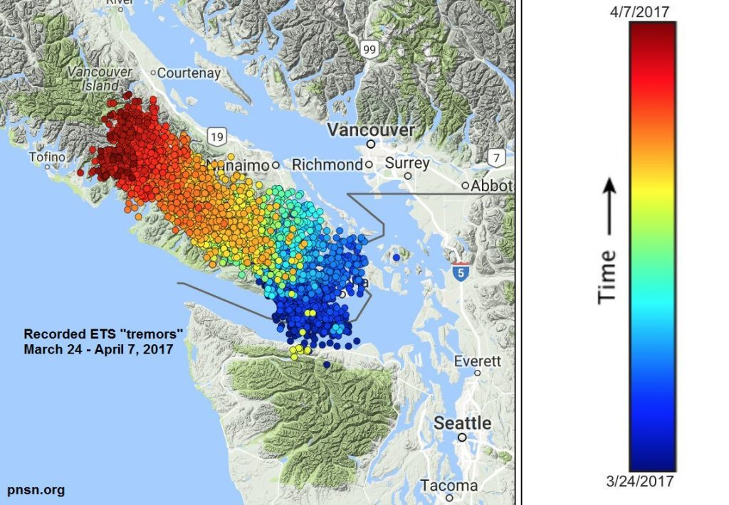 earthquake swarm vancouver island, earthquake swarm vancouver island june 2018, earthquake swarm vancouver island june 20 2018