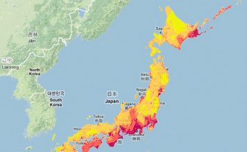Japan national seismic hazard map 2018, earthquake risk 2018, japan earthquake risk map, japan earthquake risk increases significantly