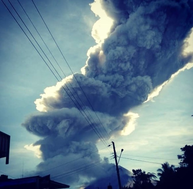 Eruption at Merapi volcano on June 1 2018 in Indonesia, merapi eruption june 1 2018 photo, merapi volcano eruption june 1 2018 video