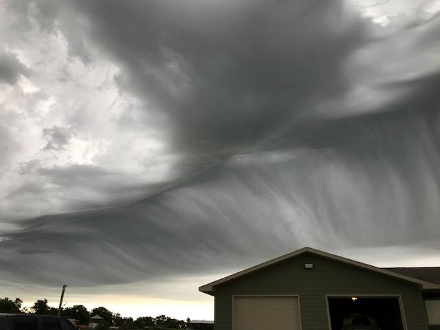 Crazy clouds taken on June 13, 2018 South of Steinauer, NE by Dedra Schreiner Blecha via ‎Nebraska through the lens