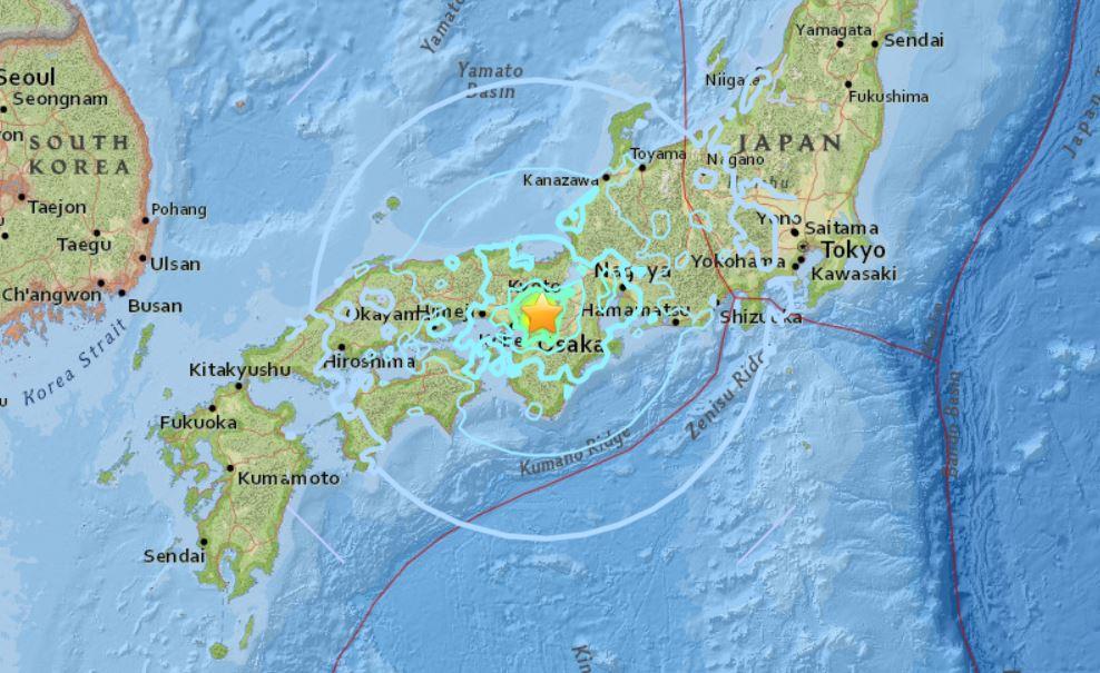 osaka japan earthquake june 17 2018, osaka japan earthquake june 17 2018 map, osaka japan earthquake june 17 2018 video