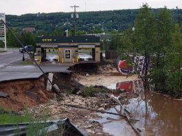 lake linden, lake linden floods, lake linden washed away june 2018, streets washed away michigan