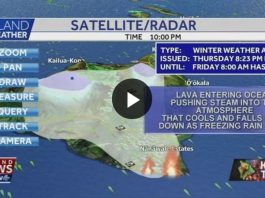 winter weather advisory big island kilauea eruption, Lava flow sparks Winter Weather Advisory on Big Island during Kilauea volcanic eruption in 2018