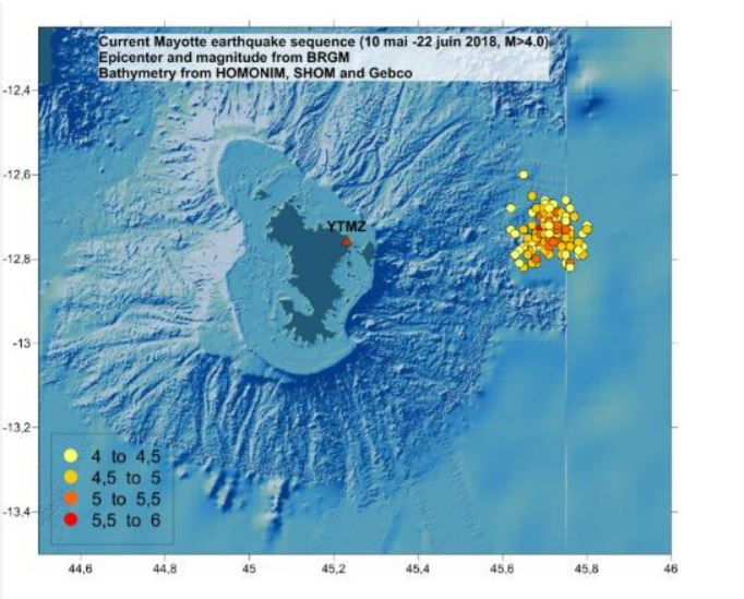 Mayotte earthquake swarm 2018, Mayotte earthquake swarm june 2018, mayotte earthquake, tremblements de terre mayotte