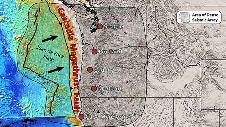 earth mantle found rising under cascadia fault, cascadia rising, pieces of earth mantle rising under cascadia, cascadia news