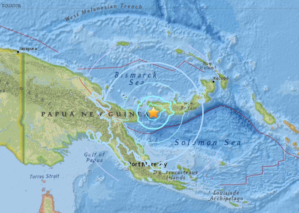 M6.0 earthquake hits Papua New Guinea on July 19 2018, M6.0 earthquake hits Papua New Guinea on July 19 2018 map