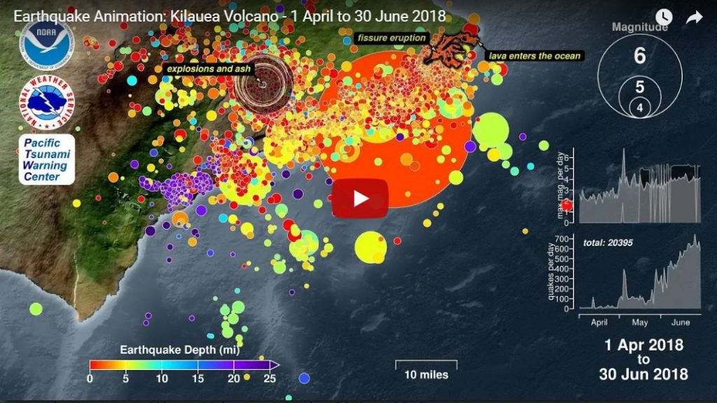 earthquake video kilauea volcano april 1 to June 30 2018, This amazing earthquake video shows all the quakes that hit Kilauea Volcano between 1 April to 30 June 2018 earthquake video kilauea volcano eruption, earthquake video kilauea volcano