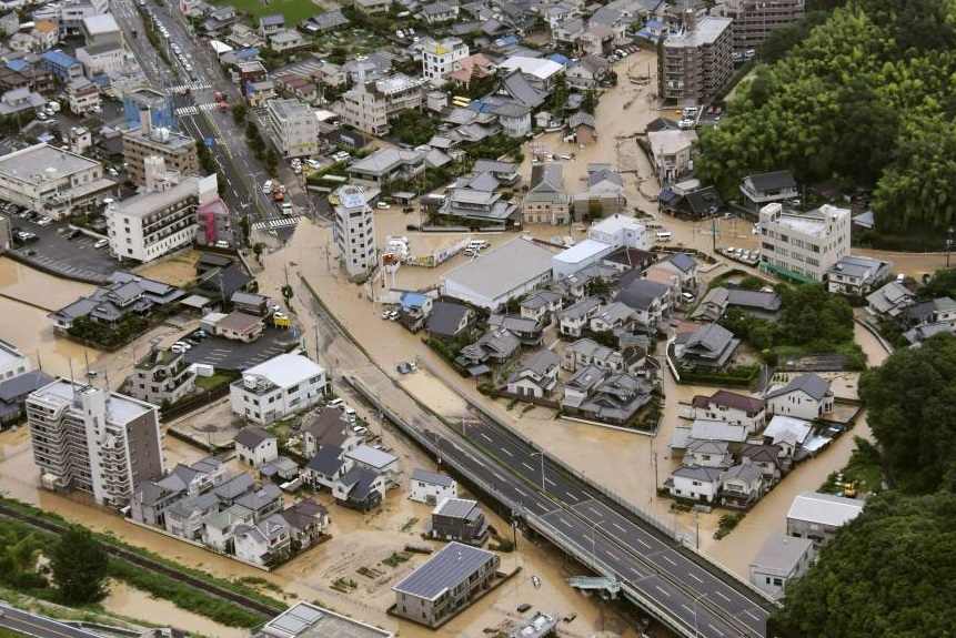 Japan devastated by unprecedented floods, 3.2 million people flee