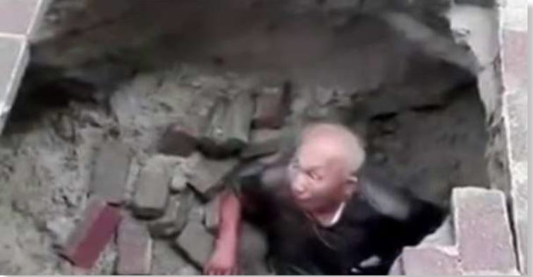 Elderly man suddenly swallowed by sinkhole that appeared with no warning beneath his feet Man-swallowed-by-sinkhole-china-july-2018-2