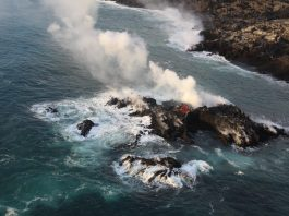 new island lava ocean entry hawaii july 2018, new lava island kopoho, new lava island hawaii