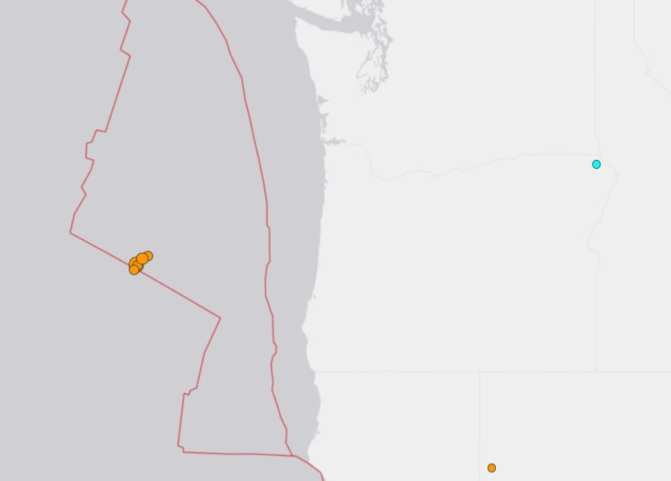 M5.3 earthquake oregon july 29 2018, earthquake swarm oregon coast july 28 2018, second earthquake swarm in 5 days cascadia off oregon coast